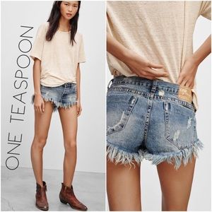 One Teaspoon Brave Bonita's grayed Jean shorts 28